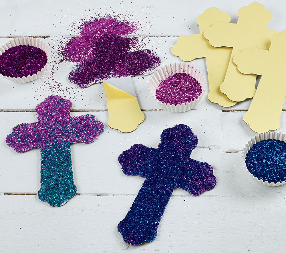 Dazzling Crosses Creative Craft Activity for Easter