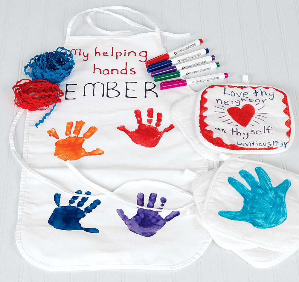 Helping Hands Apron and Potholder