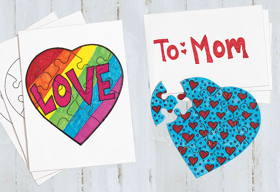 puzzle for mom creative activity
