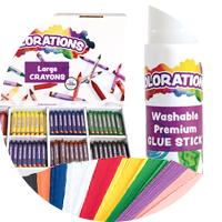 Colorations - classpacks, paper and glue